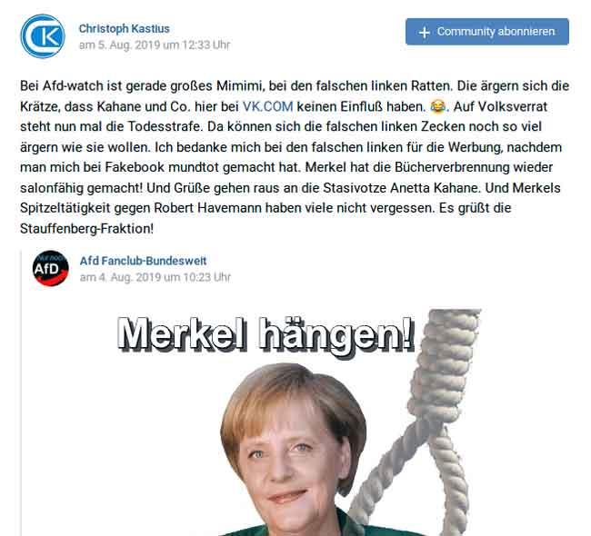 Merkel hängen