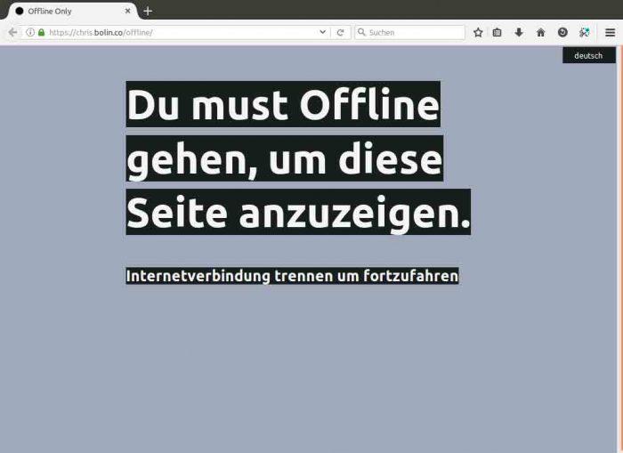 Offline gehen